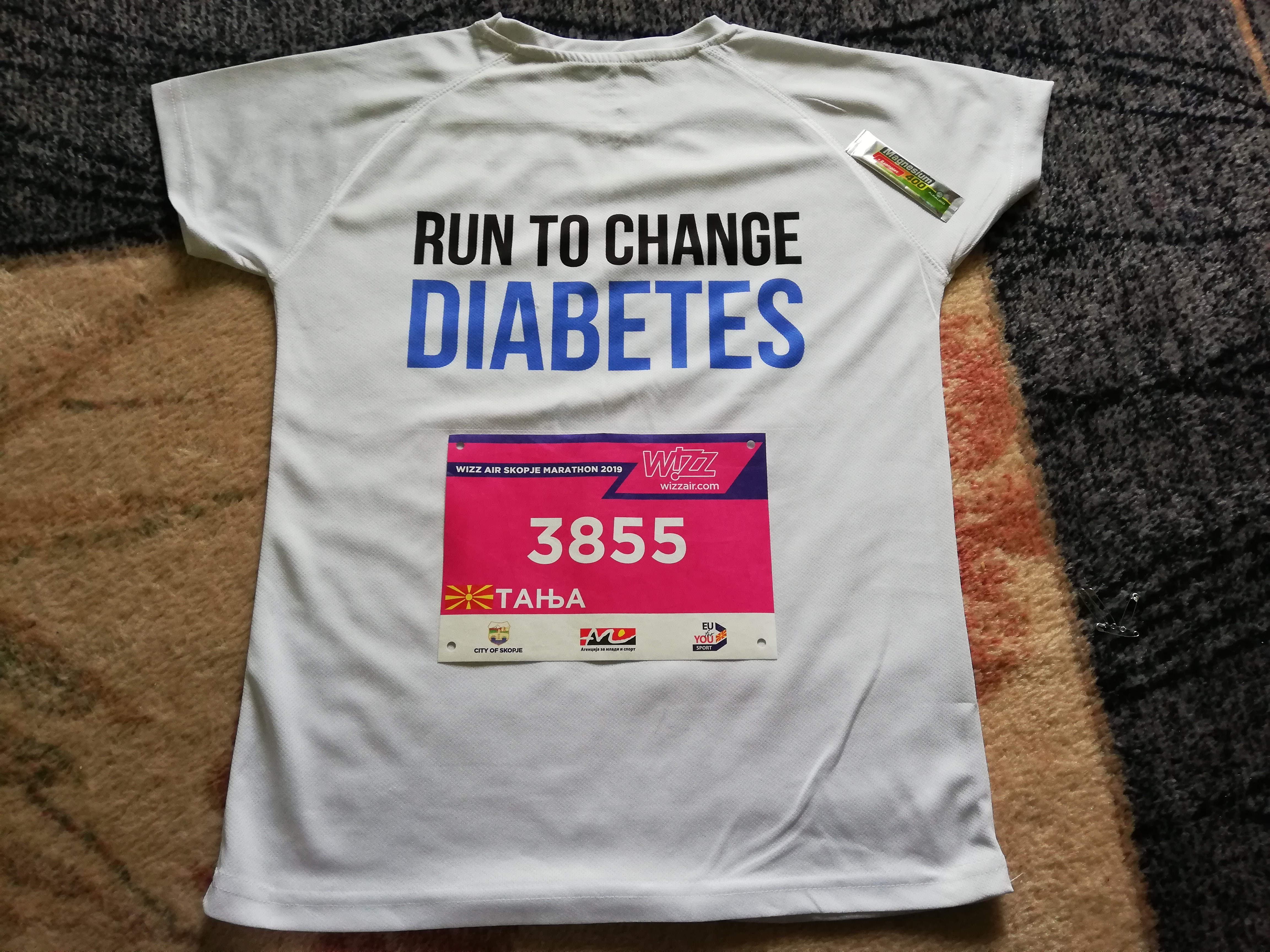 My T-Shirt for How did I prepare for Skopje Wizz Air Marathon 2019