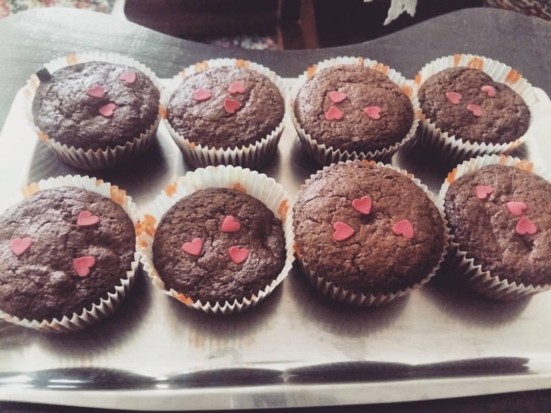 Sweet dessert - chocolate muffins